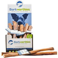 "Barkworthies Double Cut 12"" Bully Sticks Dog Treats, Case of 25"