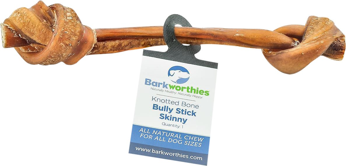 barkworthies skinny knotted bone bully sticks dog treat. Black Bedroom Furniture Sets. Home Design Ideas