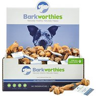 Barkworthies Small Knotted Bone Bully Sticks Dog Treats, Case of 50