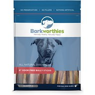 "Barkworthies Odor-Free 6"" Bully Sticks, 5 pack"