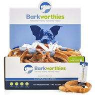 Barkworthies Rings Bully Sticks Dog Treats, Case of 50