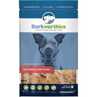 Barkworthies USA Beef Lung Chips Dog Treats, 7-oz bag