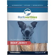 Barkworthies Beef Jerky Dog Treats, 8-oz bag