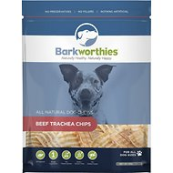 Barkworthies Beef Trachea Chips Dog Treats, 16-oz bag