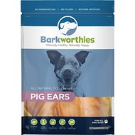 Barkworthies Pig Ears Dog Treats, 10 pack