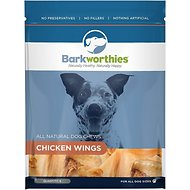 Barkworthies Chicken Wings Dog Treats, 6 pack