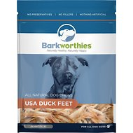 Barkworthies Duck Feet Grain-Free Dog Treats, 10 pack