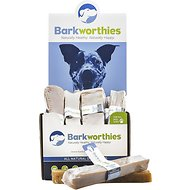 Barkworthies Small Big Cheese Chew Dog Treats, Case of 6