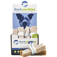 Barkworthies Medium Big Cheese Chew Dog Treats, Case of 6