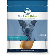 Barkworthies Large Big Cheese Chew Dog Treats, Case of 6