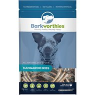 Barkworthies Kangaroo Ribs Dog Treats, 5-oz bag