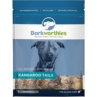 Barkworthies Kangaroo Tails Dog Treats, 2 pack