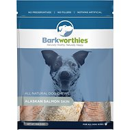 Barkworthies Alaskan Salmon Skin Dog Treats, 5-oz bag