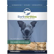 Barkworthies Sweet Potato Chips Dog Treats, 8-oz bag