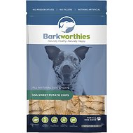 Barkworthies Sweet Potato Chips Dog Treats, 16-oz bag