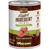Merrick Limited Ingredient Diet Grain-Free Real Lamb Recipe Canned Dog Food, 12.7-oz, case of 12