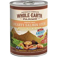 Whole Earth Farms Grain-Free Hearty Salmon Stew Canned Dog Food, 12.7-oz, case of 12