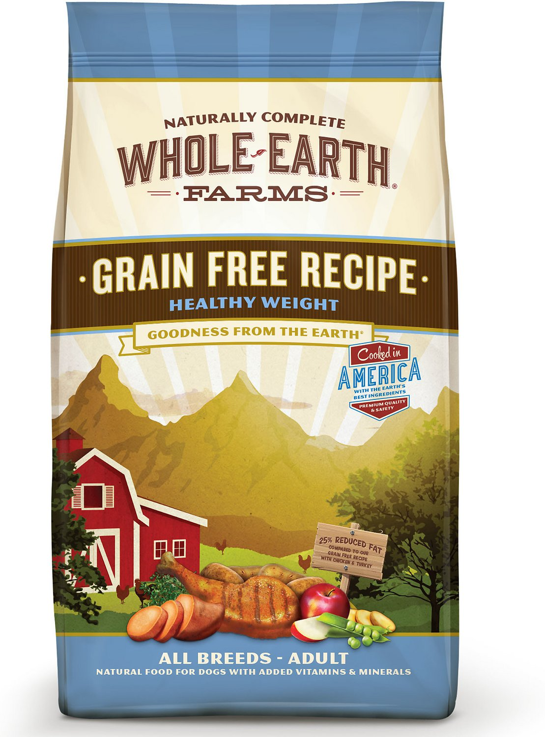 Whole earth farms grain free healthy weight dry dog food 25 lb bag whole earth farms grain free healthy weight dry dog food 25 lb bag chewy forumfinder Images