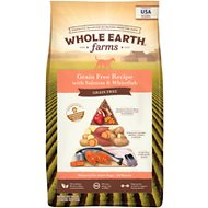 Whole Earth Farms Grain-Free Salmon & Whitefish Dry Dog Food, 25-lb bag