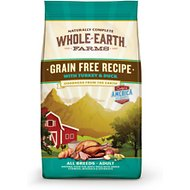 Whole Earth Farms Grain-Free Turkey & Duck Dry Dog Food, 25-lb bag