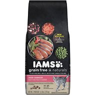 Iams Grain-Free Naturals Chicken & Salmon Recipe Adult Dry Cat Food, 6.5-lb bag