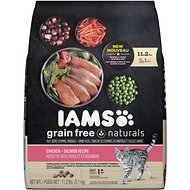 Iams Grain-Free Naturals Chicken & Salmon Recipe Adult Dry Cat Food, 11.2-lb bag