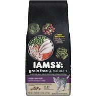 Iams Grain-Free Naturals Chicken & Turkey Recipe Adult Dry Cat Food, 6.5-lb bag