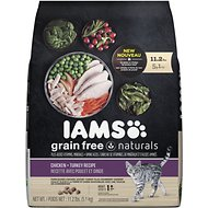 Iams Grain-Free Naturals Chicken & Turkey Recipe Adult Dry Cat Food, 11.2-lb bag