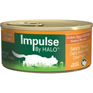 Halo Impulse Chicken, Egg & Garden Greens Recipe Grain-Free Canned Cat Food, 5.5-oz, case of 12