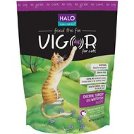 Halo Vigor Chicken, Turkey & Whitefish Recipe Grain-Free Dry Cat Food, 6-lb bag