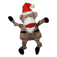 HuggleHounds Holiday Knottie Santa Sock Monkey Dog Toy, Large