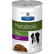 Hill's Prescription Diet Metabolic Weight Management Vegetable & Beef Stew Canned Dog Food, 12.5-oz, case of 12
