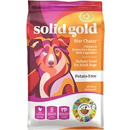 Solid Gold Star Chaser Chicken & Brown Rice with Vegetables Adult Dry Dog Food, 15-lb bag