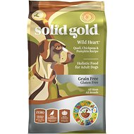 Solid Gold Wild Heart Quail, Chickpeas & Pumpkin Recipe Grain-Free Adult Dry Dog Food, 4-lb bag
