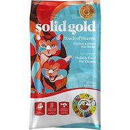 Solid Gold Touch of Heaven Chicken & Brown Rice Recipe Kitten Dry Cat Food, 4-lb bag