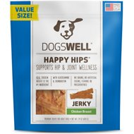 Dogswell Happy Hips Chicken Breast Jerky Dog Treats, 24-oz bag