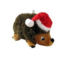 Outward Hound Holiday HedgehogZ with Santa Hat Dog Toy, Junior