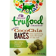 Wellness TruFood CocoChia Bakes with Salmon, Coconut Oil & Spinach Grain-Free Dog Treats, 5-oz bag