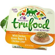 Wellness TruFood Tasty Pairings with Chicken, Green Beans & Chicken Liver Grain-Free Dog Food Trays, 5-oz, case of 24