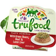 Wellness TruFood Tasty Pairings with Green Beans, Beef & Lamb Liver Grain-Free Dog Food Trays, 5-oz, case of 24