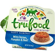 Wellness TruFood Tasty Pairings with Chicken, Pumpkin & Beef Grain-Free Dog Food Trays, 5-oz, case of 24