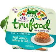 Wellness TruFood Tasty Pairings with Carrots, Salmon & Cod Grain-Free Dog Food Trays, 5-oz, case of 24