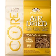 Wellness CORE Air Dried Natural Grain-Free Indoor Recipe Dry Cat Food, 2-lb bag