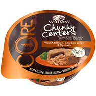 Wellness CORE Chunky Centers with Chicken, Chicken Liver & Spinach Grain-Free Wet Dog Food