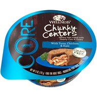 Wellness CORE Chunky Centers with Tuna, Chicken & Kale Grain-Free Wet Dog Food, 6-oz, case of 24