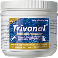 Tersus Trivonal Small Breed Dermo-Mega 7 Skin & Coat Soft Chew Supplement for Dogs, 90-count