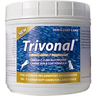 Tersus Trivonal Large Breed Dermo-Mega 7 Skin & Coat Soft Chew Supplement for Dogs, 90 count