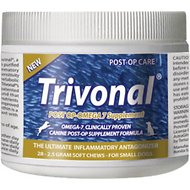 Tersus Trivonal Small Breed Post-Op Omega 7 Anti-Inflammatory Soft Chew Supplement for Dogs, 28-count