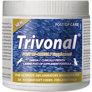 Tersus Trivonal Large Breed Post-Op Omega 7 Anti-Inflammatory Soft Chew Supplement for Dogs, 28-count