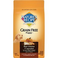 Nature's Recipe Grain-Free Puppy Chicken, Sweet Potato, & Pumpkin Recipe Dry Dog Food, 4-lb bag